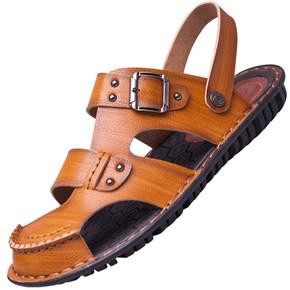 男鞋夏季凉鞋新款男士超纤皮凉鞋