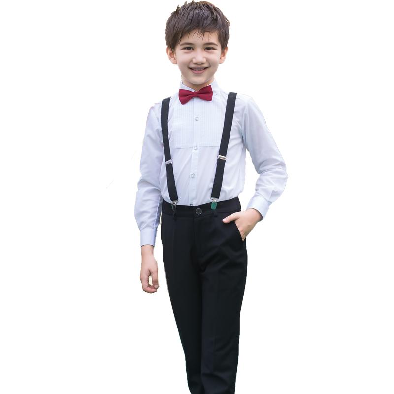 Цвет: Черный {#н8} (белый с длинными рукавами+брюки+ремень+вино красный галстук узлом)
