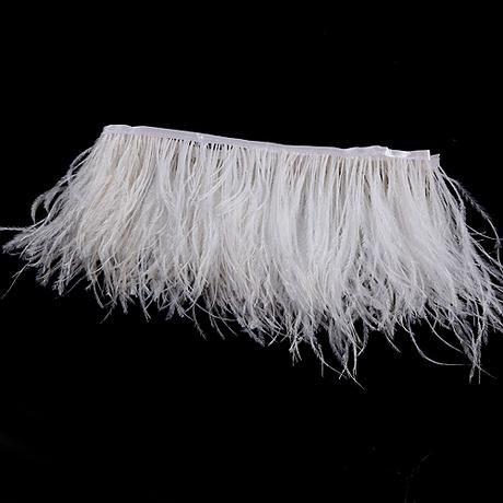 Шелковая ткань DIY перо шелковая юбка мода одежда Аксессуары из страусиных перьев