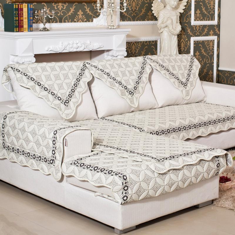 戴蒂秋冬四季特价全纯棉防滑布艺时尚欧式沙发坐垫罩