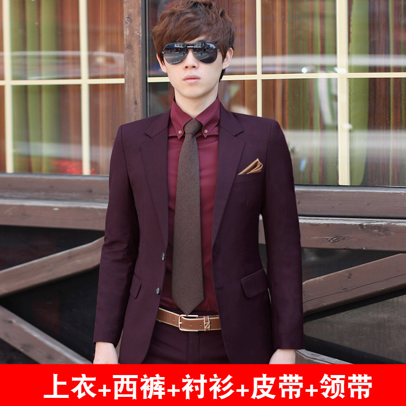 Color: Brown double buckle (jacket + trousers