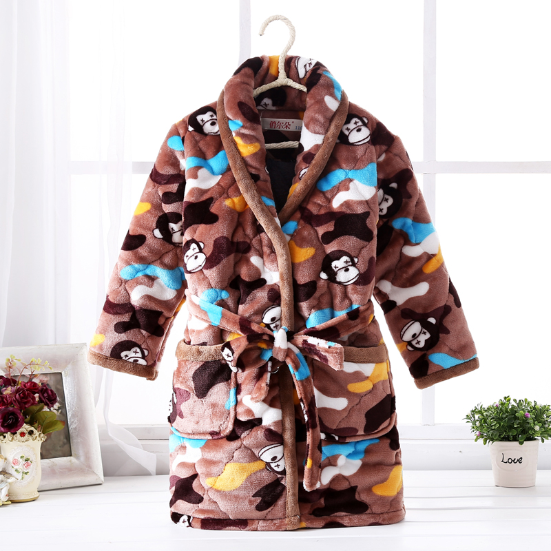 Color classification: Quilted robe Camo monkey
