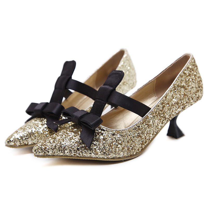 kitten heel and bowknot shoes's main photo