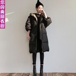 棉衣女中长款韩版宽松学生mm大码加厚面包服冬装休闲韩国bf潮棉服