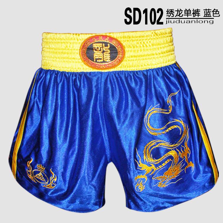 Цвет: Вышитый шорты синий дракон Sd102-4