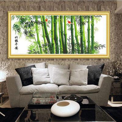 竹子新款客厅装饰挂画绣