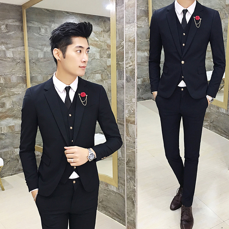 Color: Black suit + trousers