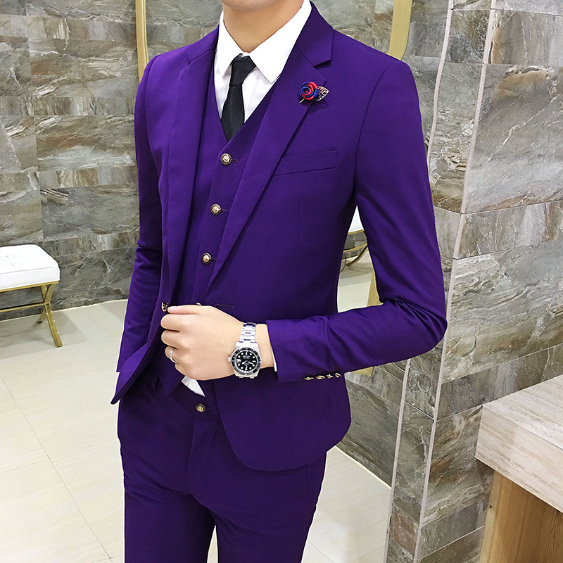 Color: Purple suit