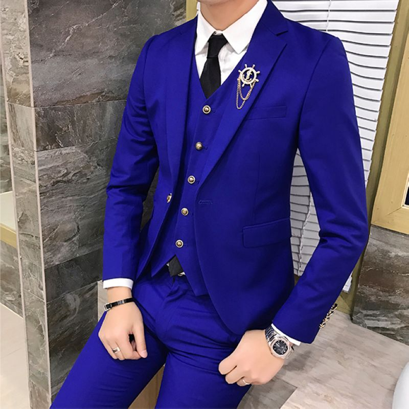 Color: Light blue suit
