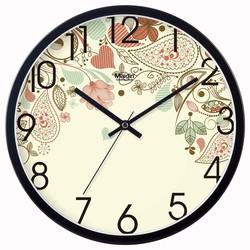 客厅挂钟钟表时钟卧室欧式钟田园静音创意装饰挂表时尚日历石英钟