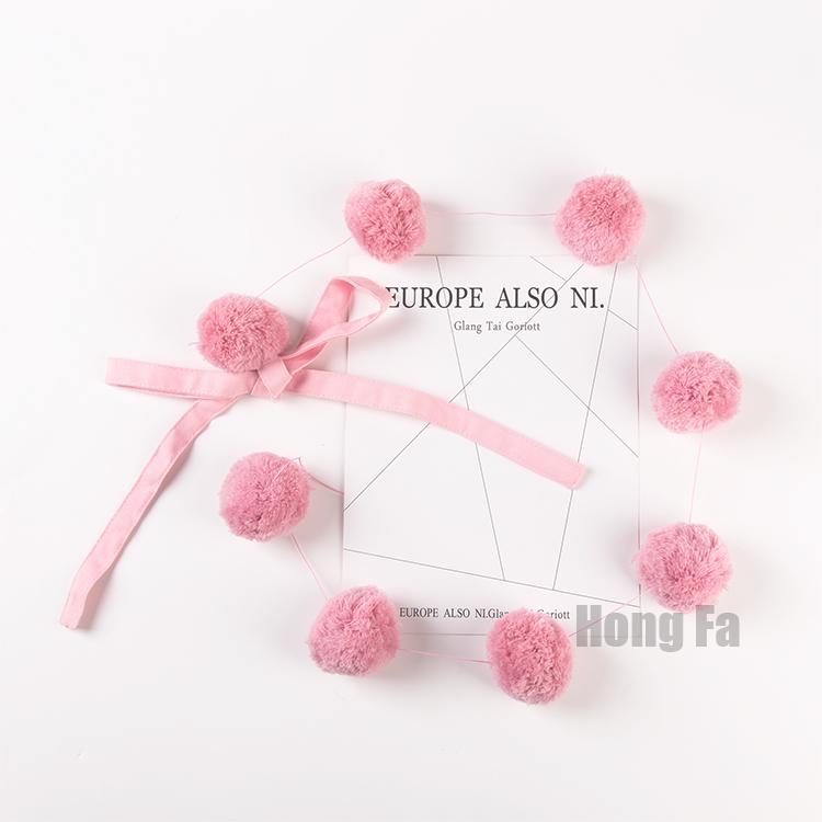 Цвет: Розовый строка шерсти мяч