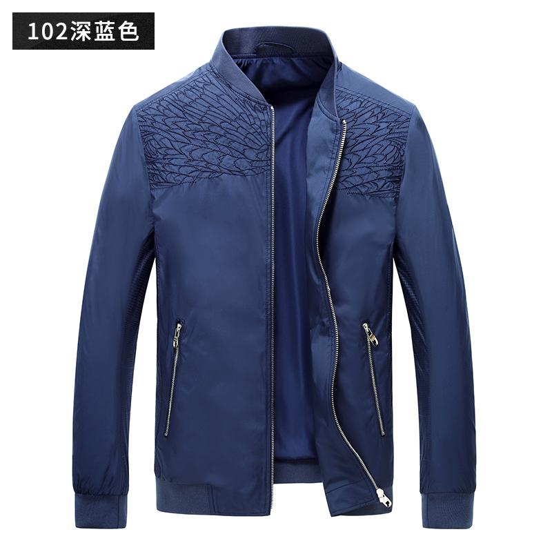 七匹狼夹克衫2017春季新款男士休闲商务茄克外套棒球领男装外套