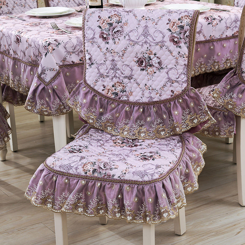欧式田园餐桌椅垫椅套套装
