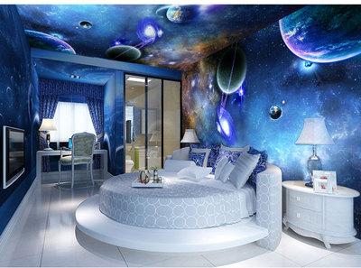 星空背景墙纸ktv包厢酒吧天花板吊顶3d壁画宇宙酒店卧室立体壁纸图片