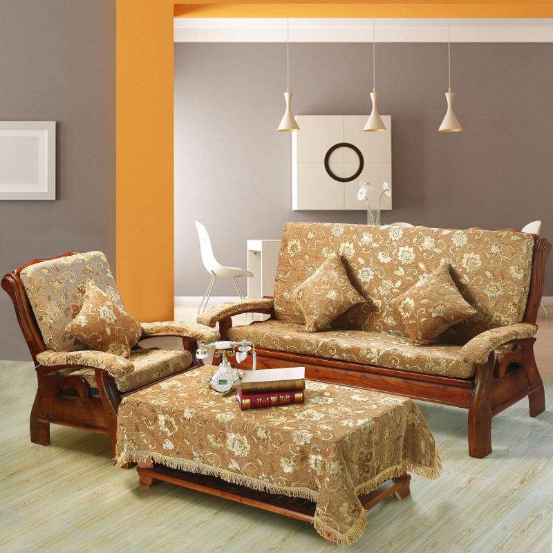实木沙发垫坐垫加厚红