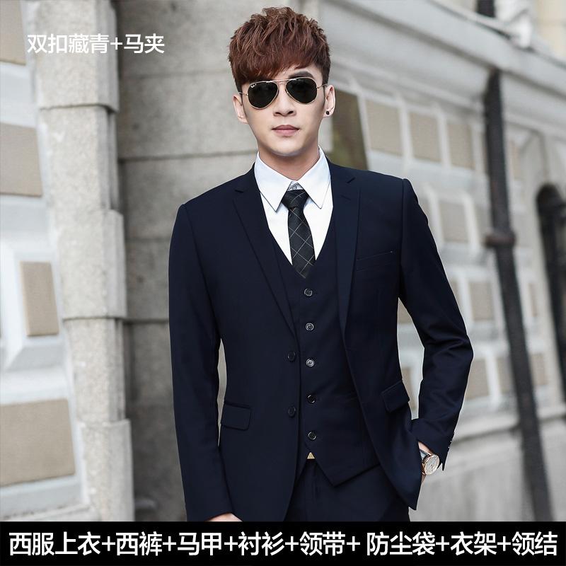 Color: Suit/two-button Navy Blue