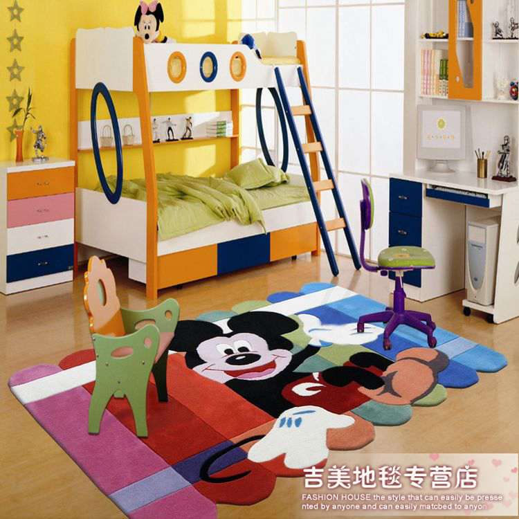 sp cial enfants chambre tapis tapis moquette motif mignon de bande dessin e tapis de tapis mitch. Black Bedroom Furniture Sets. Home Design Ideas