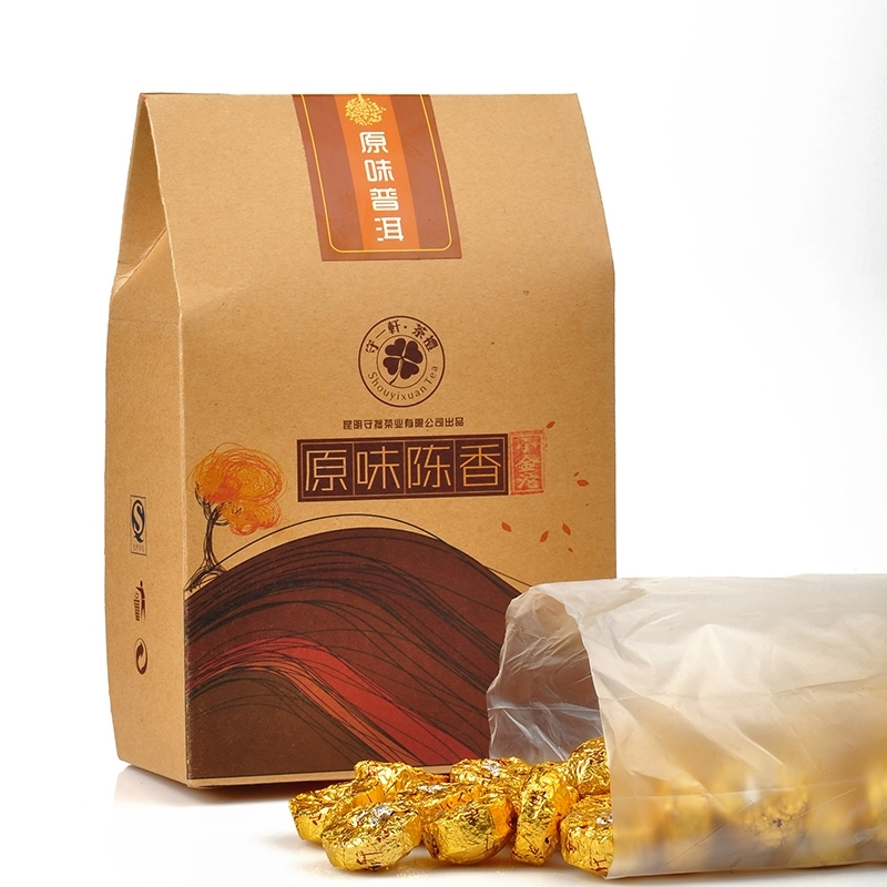 三味减肥普洱茶 礼盒装包装300G 荷叶 糯米香 玫瑰 迷你小沱茶普洱茶 熟茶 - 何记茶轩 - 何记茶轩