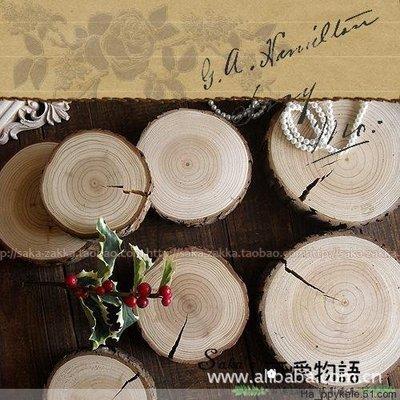 森系婚礼道具 森森 ZAKKA杂货 摄影道具 木桩 复古 做旧年轮 杯垫