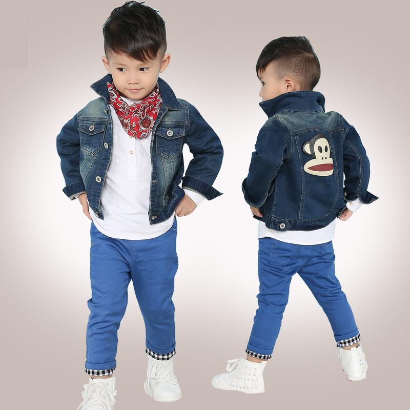 童装男童牛仔外套2014韩版儿童牛仔衣服男小童外套春秋款