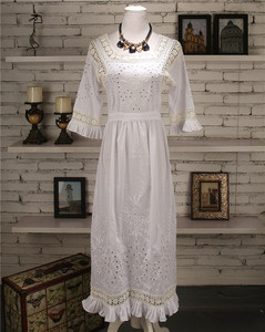 Embroidery lace sleeves original ladies & princess dress, long sections available