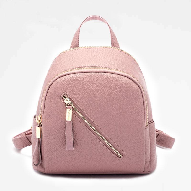 韩版双肩女简约小背包学院风百搭上班甜美款式休闲旅行包