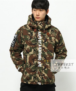 日本代购  AAPE H.weight Padded Down ?#22278;?#22841;克外套 15AW