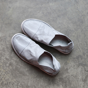 Low-key soft sewn valgus Foot lazy retro shoes do the old flat head