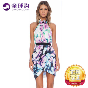Multicolor floral halter backless sleeveless women Bodycon Dress