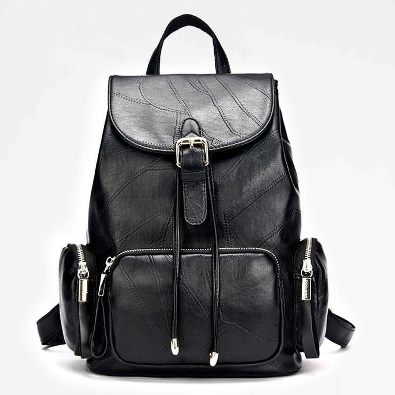 韩版大容量女士双肩上班族小背包上课休闲旅行女两用背包
