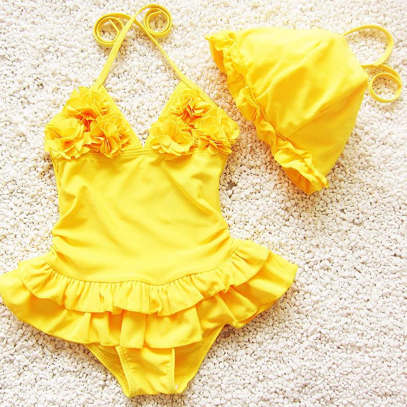 3 6 month yellow dress hats
