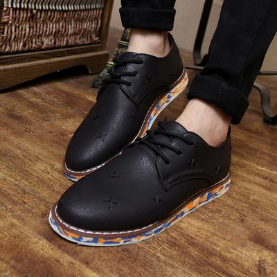 2015新品秋季男鞋子韩版男士休闲鞋英伦风潮流休闲皮鞋林弯弯潮鞋