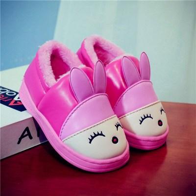 儿童棉鞋保暖卡通冬季包跟防水家居宝宝鞋