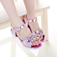 2016 new leather girl sandals princess shoes small rabbit sandals sandals in the big girls summer sandals Korean version