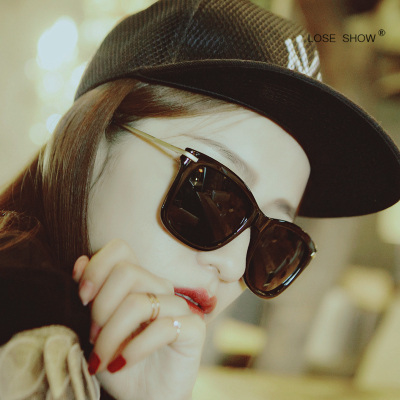 South Korea 2015 new metal thin legs square round sunglasses sunglasses retro color film shipping boom