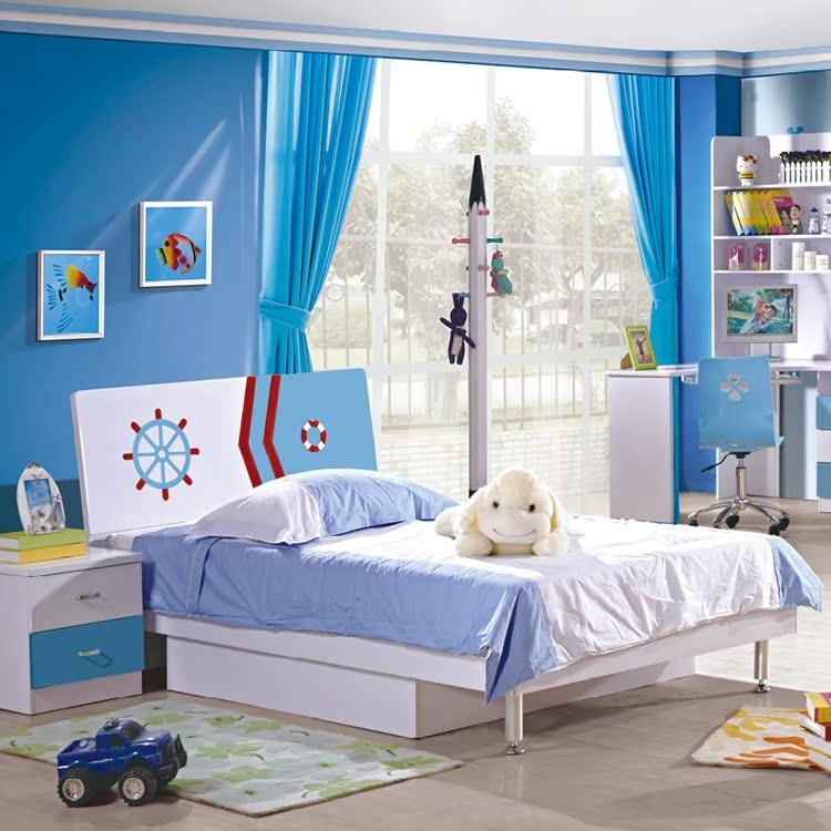 Children's bedroom suite combination of four sets of children bed boy Wang Zichuang 1.2 meters 1.5 meters single double bed 826
