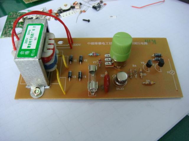 междинни електротехник изпита апартамент - напрежение на верига (с кабел и трансформатор) / обучение, кит.