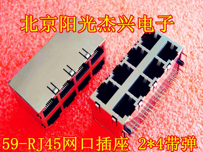 2X4RJ45 8P8C Rete rj45 presa presa presa presa con schegge di 59-2x4 con scudo