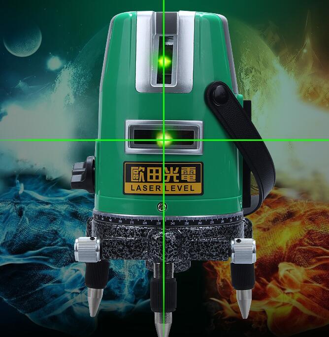 เลเซอร์สีเขียวของแท้ระดับแบตเตอรี่ลิเธียมแบบชาร์จไฟให้เครื่องอินฟราเรดอุปกรณ์เครื่องมือวัดระดับ