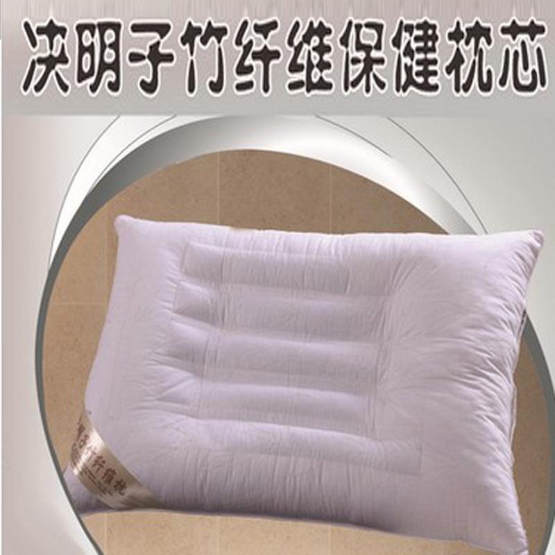 竹繊維ケツメイシ枕抗菌ダウン綿柔らかい香浦絨を凉血護頚枕包郵