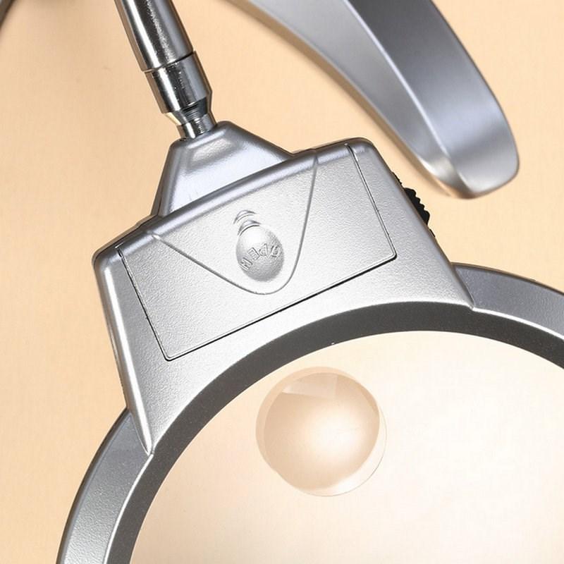 Lupa lente alargar la sobremesa con Luz LED clip grabado el mantenimiento de 30 veces la lectura de un paquete postal