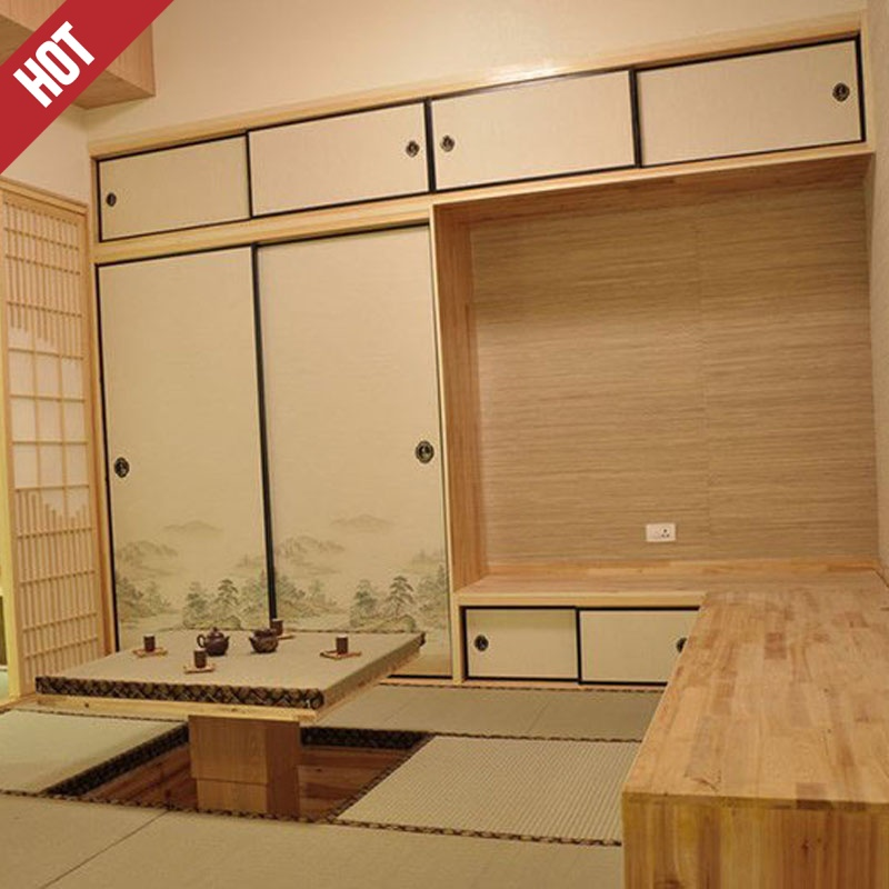 Shanghai custom bedroom living room became tatami bed for children lying all wood and Japanese custom furniture