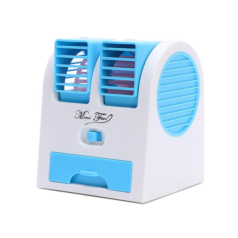 a hordozható kis ventillátort nyári hordozható hűtő - és együtt egy kettős. a ventillátor.
