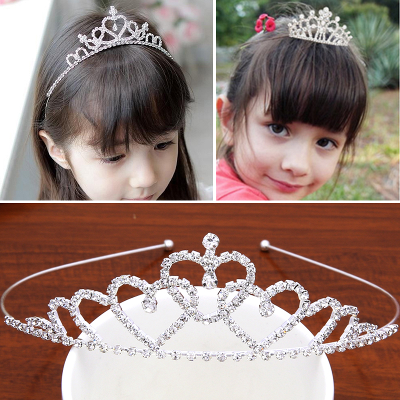 Children's hair girl girl band tooth crown hoop head hoop diamond tiara birthday hairpin head hoop