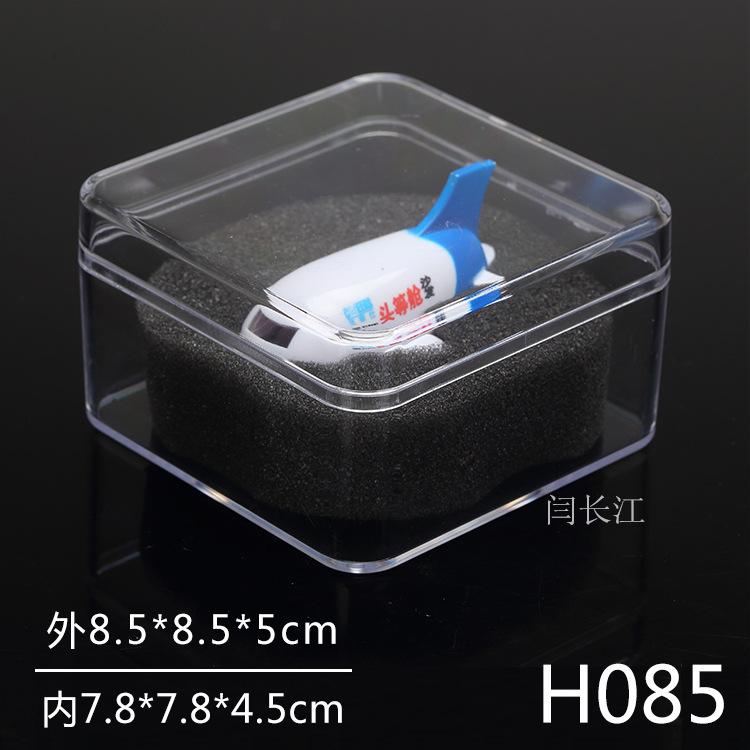 en genomskinlig plast lådor H085 produktens förpackning allmänna medaljong har en låda med lock, plast ps