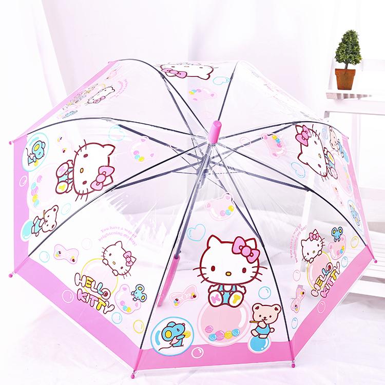 新款儿童大雨伞男女童自动伞迪士尼米老鼠白雪公主小学生折叠晴雨