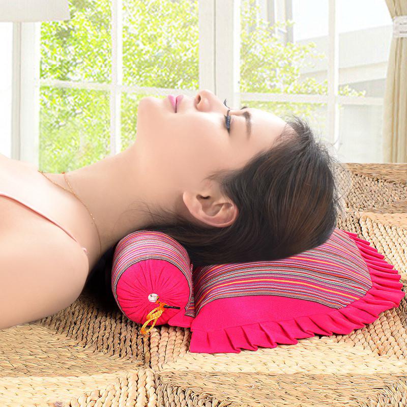 脊椎ケツメイシ護頸椎の保健の枕保健柔らかい家庭用ホテル真空枕掛け布団枕に