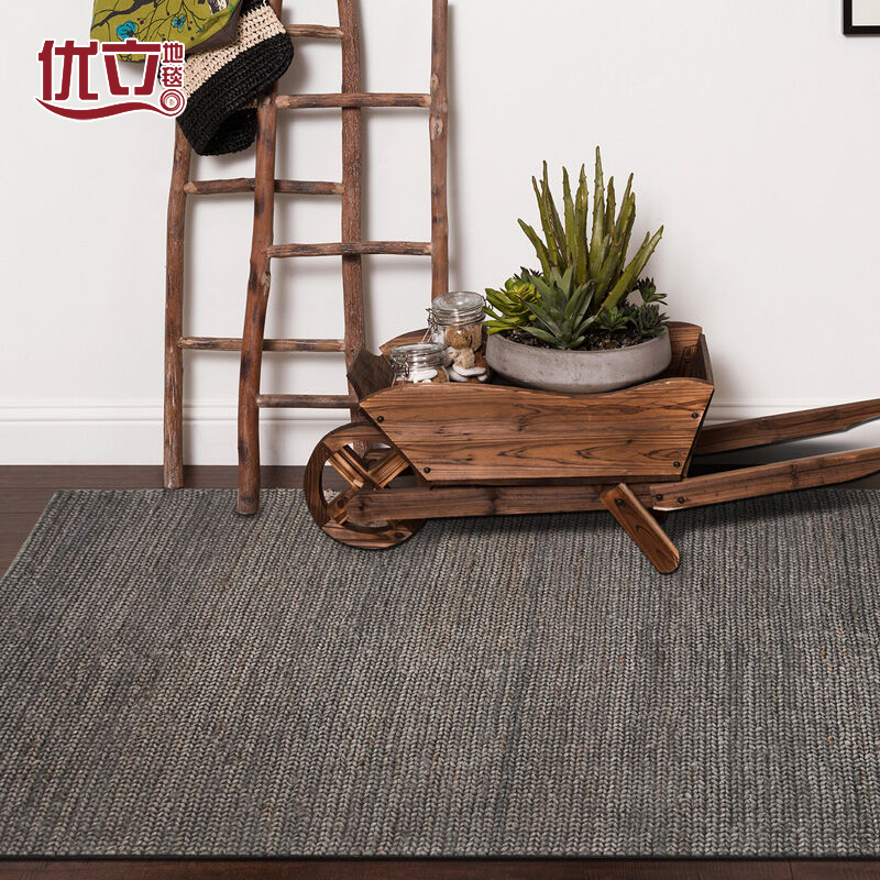 U-lee American Pastoral hand woven carpets imported natural jute carpet in the living room bedroom in India