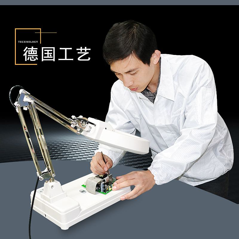 High repair antique jewelry identification with magnifying glass lamp table double times