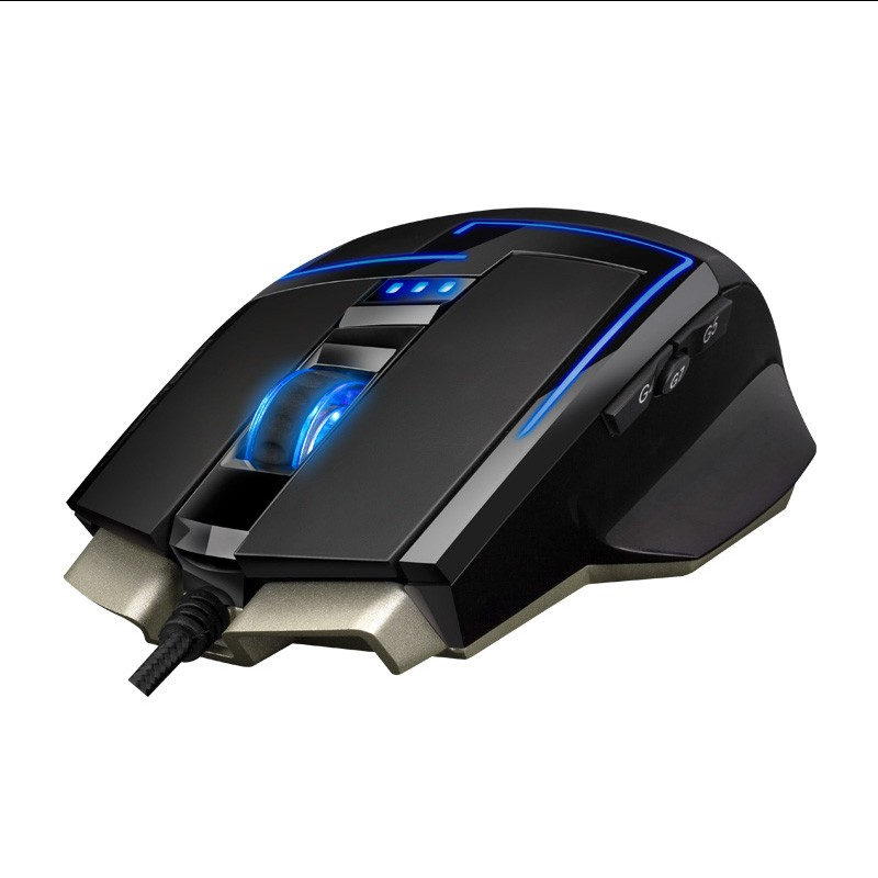 Sunsonny S-M11 cable mechanical gaming mouse LOL macroprograming light Thor Wrangler USB Gaming Mouse
